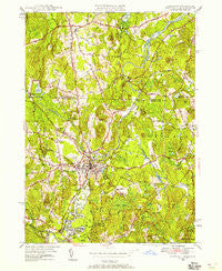 Pepperell Massachusetts Historical topographic map, 1:24000 scale, 7.5 X 7.5 Minute, Year 1950