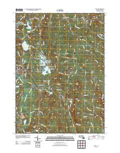 Peru Massachusetts Historical topographic map, 1:24000 scale, 7.5 X 7.5 Minute, Year 2012