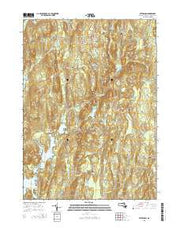 Petersham Massachusetts Current topographic map, 1:24000 scale, 7.5 X 7.5 Minute, Year 2015 from Massachusetts Maps Store