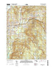Pittsfield East Massachusetts Current topographic map, 1:24000 scale, 7.5 X 7.5 Minute, Year 2015 from Massachusetts Maps Store