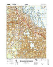 Plymouth Massachusetts Current topographic map, 1:24000 scale, 7.5 X 7.5 Minute, Year 2015 from Massachusetts Maps Store