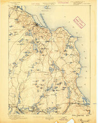 Plymouth Massachusetts Historical topographic map, 1:62500 scale, 15 X 15 Minute, Year 1889