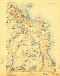 Plymouth Massachusetts Historical topographic map, 1:62500 scale, 15 X 15 Minute, Year 1894