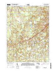 Plympton Massachusetts Current topographic map, 1:24000 scale, 7.5 X 7.5 Minute, Year 2015 from Massachusetts Maps Store