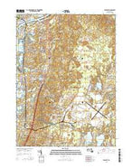 Pocasset Massachusetts Current topographic map, 1:24000 scale, 7.5 X 7.5 Minute, Year 2015 from Massachusetts Map Store