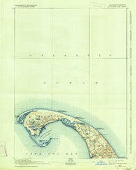 Provincetown Massachusetts Historical topographic map, 1:62500 scale, 15 X 15 Minute, Year 1889