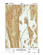 Quabbin Reservoir Massachusetts Current topographic map, 1:24000 scale, 7.5 X 7.5 Minute, Year 2015 from Massachusetts Map Store