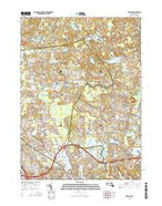 Reading Massachusetts Current topographic map, 1:24000 scale, 7.5 X 7.5 Minute, Year 2015 from Massachusetts Map Store