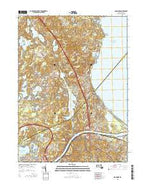 Sagamore Massachusetts Current topographic map, 1:24000 scale, 7.5 X 7.5 Minute, Year 2015 from Massachusetts Map Store
