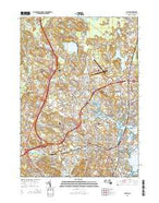 Salem Massachusetts Current topographic map, 1:24000 scale, 7.5 X 7.5 Minute, Year 2015 from Massachusetts Map Store