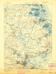 Salem Massachusetts Historical topographic map, 1:62500 scale, 15 X 15 Minute, Year 1888