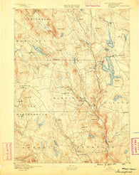 Sandisfield Massachusetts Historical topographic map, 1:62500 scale, 15 X 15 Minute, Year 1888