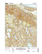 Sandwich Massachusetts Current topographic map, 1:24000 scale, 7.5 X 7.5 Minute, Year 2015 from Massachusetts Map Store