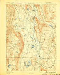 Sheffield Massachusetts Historical topographic map, 1:62500 scale, 15 X 15 Minute, Year 1888