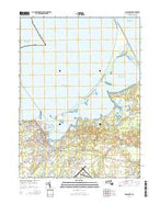 Siasconset Massachusetts Current topographic map, 1:24000 scale, 7.5 X 7.5 Minute, Year 2015 from Massachusetts Map Store