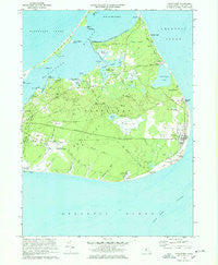 Siasconset Massachusetts Historical topographic map, 1:24000 scale, 7.5 X 7.5 Minute, Year 1972