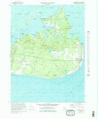 Siasconset Massachusetts Historical topographic map, 1:25000 scale, 7.5 X 7.5 Minute, Year 1972