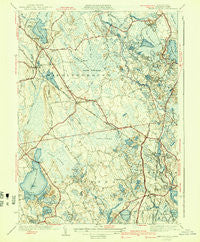 Snipatuit Pond Massachusetts Historical topographic map, 1:31680 scale, 7.5 X 7.5 Minute, Year 1942