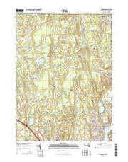 Somerset Massachusetts Current topographic map, 1:24000 scale, 7.5 X 7.5 Minute, Year 2015 from Massachusetts Maps Store