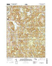 South Groveland Massachusetts Current topographic map, 1:24000 scale, 7.5 X 7.5 Minute, Year 2015 from Massachusetts Maps Store