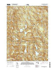 South Sandisfield Massachusetts Current topographic map, 1:24000 scale, 7.5 X 7.5 Minute, Year 2015 from Massachusetts Maps Store