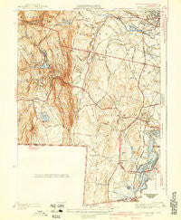 Southwick Massachusetts Historical topographic map, 1:31680 scale, 7.5 X 7.5 Minute, Year 1942