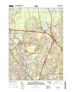 Taunton Massachusetts Current topographic map, 1:24000 scale, 7.5 X 7.5 Minute, Year 2015 from Massachusetts Map Store