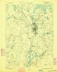 Taunton Massachusetts Historical topographic map, 1:62500 scale, 15 X 15 Minute, Year 1888