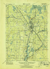 Taunton Massachusetts Historical topographic map, 1:62500 scale, 15 X 15 Minute, Year 1918