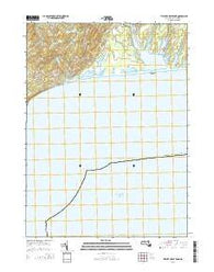 Tisbury Great Pond Massachusetts Current topographic map, 1:24000 scale, 7.5 X 7.5 Minute, Year 2015