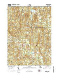 Townsend Massachusetts Current topographic map, 1:24000 scale, 7.5 X 7.5 Minute, Year 2015