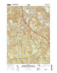 Uxbridge Massachusetts Current topographic map, 1:24000 scale, 7.5 X 7.5 Minute, Year 2015