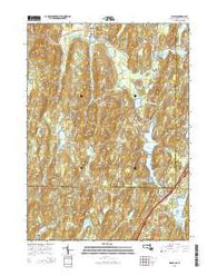 Wales Massachusetts Current topographic map, 1:24000 scale, 7.5 X 7.5 Minute, Year 2015