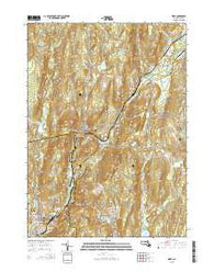 Ware Massachusetts Current topographic map, 1:24000 scale, 7.5 X 7.5 Minute, Year 2015