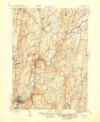 Ware Massachusetts Historical topographic map, 1:31680 scale, 7.5 X 7.5 Minute, Year 1946