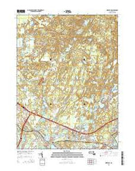 Wareham Massachusetts Current topographic map, 1:24000 scale, 7.5 X 7.5 Minute, Year 2015