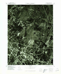 Wareham Massachusetts Historical topographic map, 1:25000 scale, 7.5 X 7.5 Minute, Year 1977