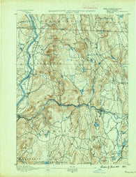 Warwick Massachusetts Historical topographic map, 1:62500 scale, 15 X 15 Minute, Year 1889