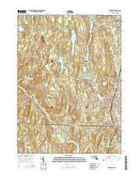 Webster Massachusetts Current topographic map, 1:24000 scale, 7.5 X 7.5 Minute, Year 2015