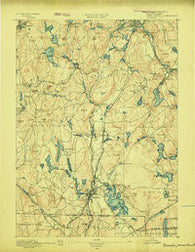 Webster Massachusetts Historical topographic map, 1:62500 scale, 15 X 15 Minute, Year 1889