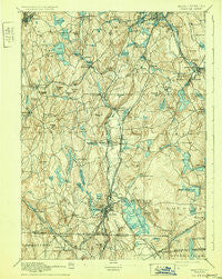 Webster Massachusetts Historical topographic map, 1:62500 scale, 15 X 15 Minute, Year 1892