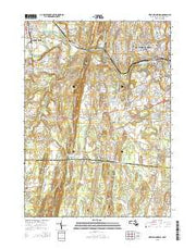 West Springfield Massachusetts Current topographic map, 1:24000 scale, 7.5 X 7.5 Minute, Year 2015 from Massachusetts Maps Store