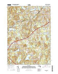 Westford Massachusetts Current topographic map, 1:24000 scale, 7.5 X 7.5 Minute, Year 2015