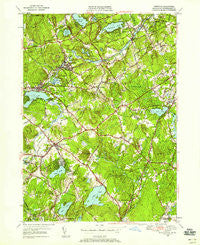 Westford Massachusetts Historical topographic map, 1:24000 scale, 7.5 X 7.5 Minute, Year 1950