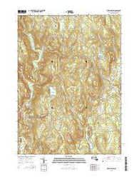 Westhampton Massachusetts Current topographic map, 1:24000 scale, 7.5 X 7.5 Minute, Year 2015