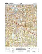 Weymouth Massachusetts Current topographic map, 1:24000 scale, 7.5 X 7.5 Minute, Year 2015 from Massachusetts Map Store