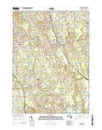 Whitman Massachusetts Current topographic map, 1:24000 scale, 7.5 X 7.5 Minute, Year 2015 from Massachusetts Map Store