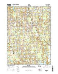 Whitman Massachusetts Current topographic map, 1:24000 scale, 7.5 X 7.5 Minute, Year 2015