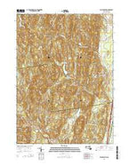 Williamsburg Massachusetts Current topographic map, 1:24000 scale, 7.5 X 7.5 Minute, Year 2015 from Massachusetts Map Store