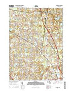 Wilmington Massachusetts Current topographic map, 1:24000 scale, 7.5 X 7.5 Minute, Year 2015 from Massachusetts Map Store